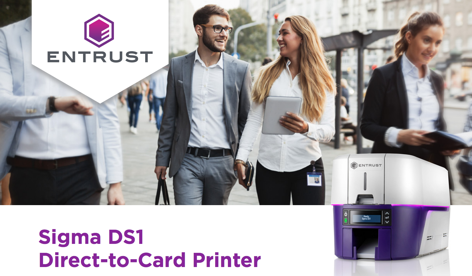 Entrust Datacard Sigma DS1 Simplex ID Card Printer (Single-Sided) [P-DC-525300-001]