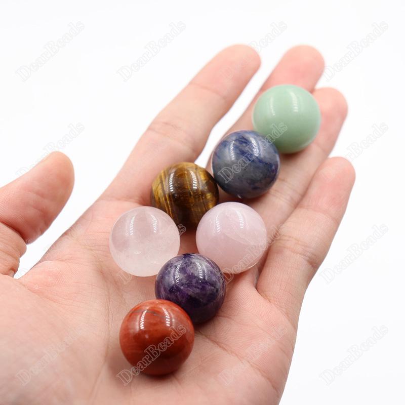 Cuentas de piedras preciosas pulidas de 20mm, piedra jaspe roja, esfera de cristal