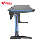 "Student Table Table And Desk I-Shaped 47"" Gaming Style Computer Desk Office Desk Student Table PC Desk Baffle With RGB LED Lights VM-ES04"