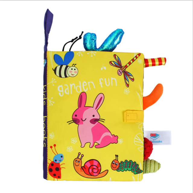 baby activity toys promotional multifunctional pre-school other educational learning soft washable elephant cloth book for baby