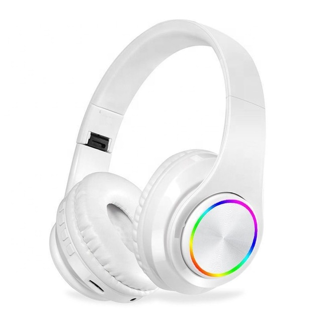 B39 headphone over ear wireless bt headset with microphone support tf card mp3 player with led colorful breathing lights - idealBuds Earphone | idealBuds.net