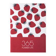 Органайзер А4 для ежедневника, дневник и дневник Kawaii Fruit, еженедельная ежемесячная записная книжка назад в школу, дорожная книга, 2020(Китай)