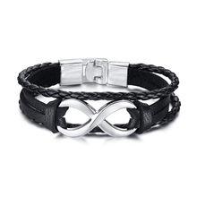 ZORCVENS 2020 новый модный винтажный браслет для руля для мужчин многослойные кожаные браслеты с веревкой браслеты(Китай)