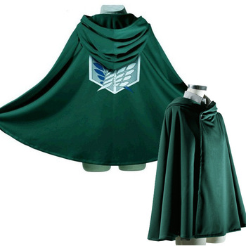 Custom Attack On Titan Anime Cosplay Costume Investigation Corps Freedom Wings Allen Captain Uniformed Cape Cloak