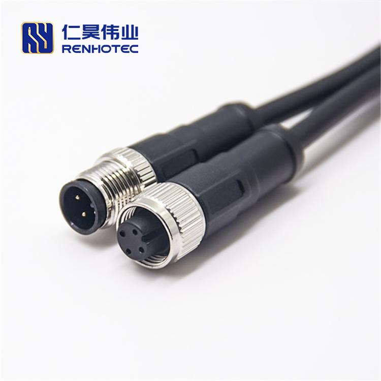 M12 4-контактный датчик кабель мужской и женский