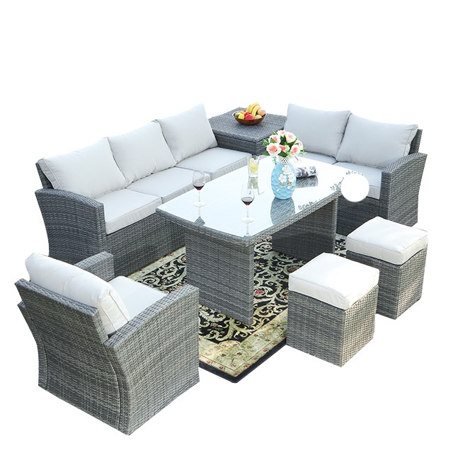 Hand-made  Living Room Sofa Luxury Rattan Indoor Furniture