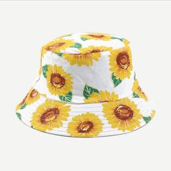 Newly printed sunflower bucket hat