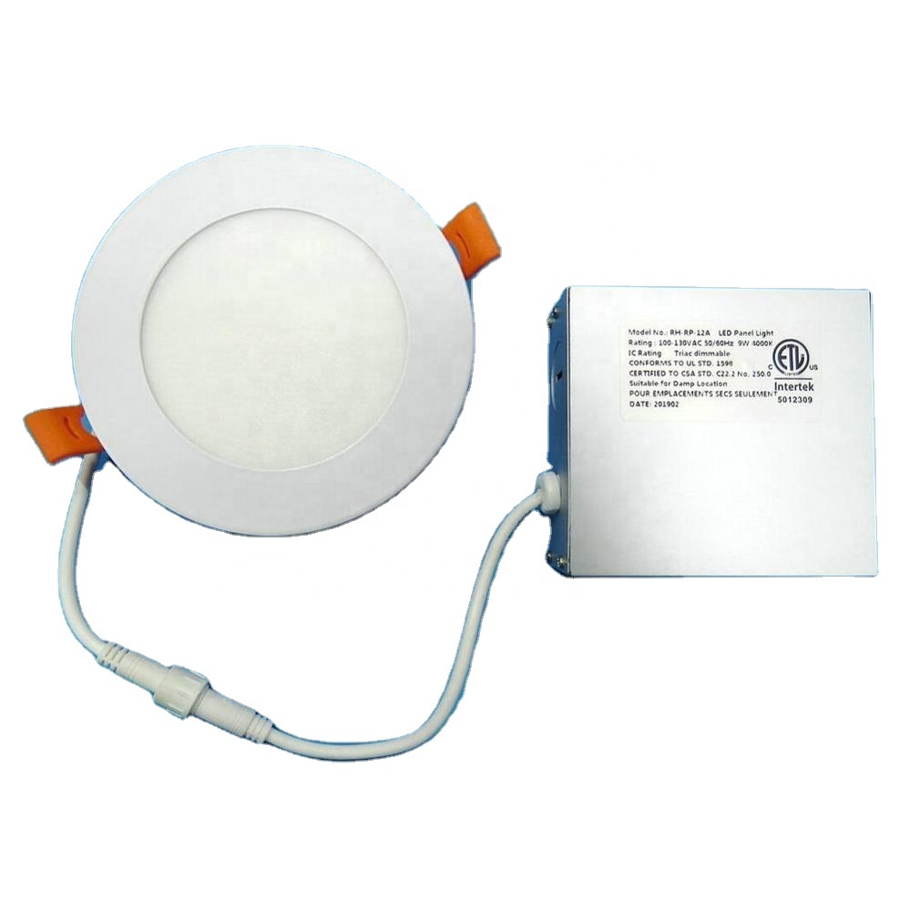 Energy star ETL 4inch 9w with junction box  Recessed Mounted Slim round led down light Led Panel Light