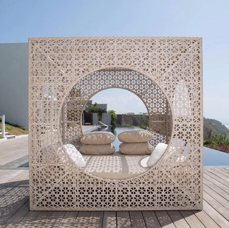 Современный дизайн, уличный плетеный диван из ротанга, садовая мебель для патио