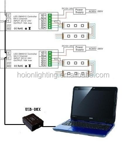 300W 12V 24V 1 channel dmx dimmer dmx512 controller