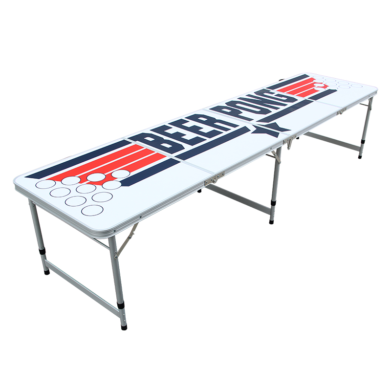 8 Foot Beer Pong Table with Customizable Dry Erase Surface