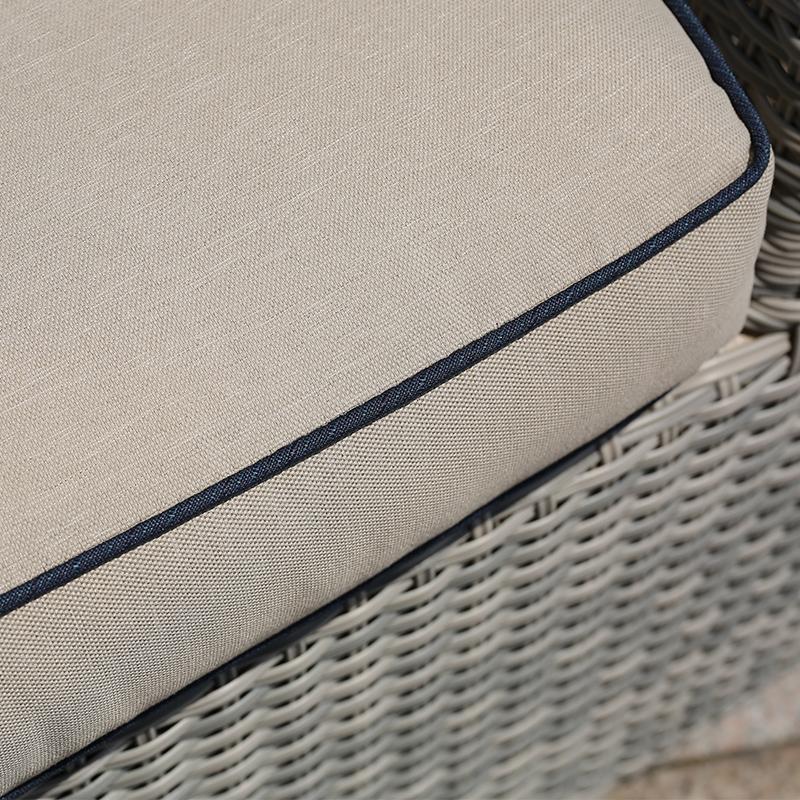 Открытый Ротанг серый диван набор светло-серая терраса патио мебель диван уличная садовая мебель