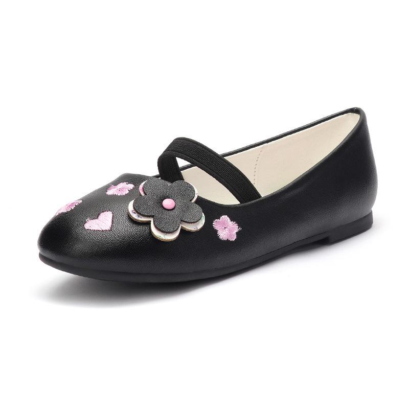 Летние удобные 4 вида цветов: черный, розовый, детские туфли для девочек