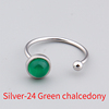 Silver-24 Green chalcedony