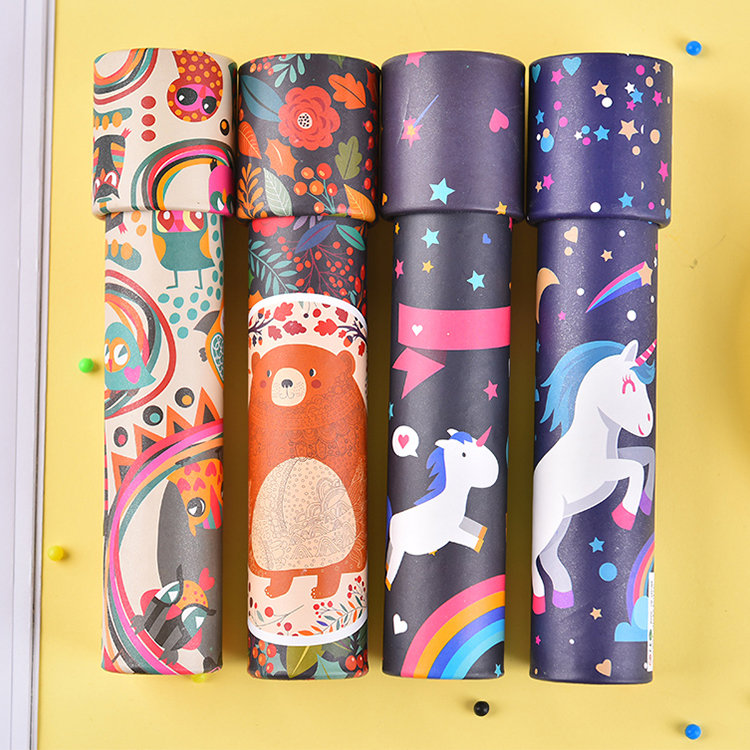 Wholesale cheap custom magic prism funny children spin paper cartoon kaleidoscope