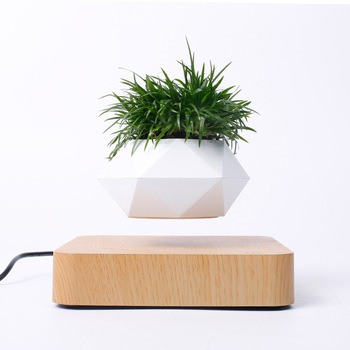 Wholesale Amazon hot sale indoor plastic magnetic levitating plant pot for home decoration