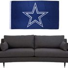 Wholesale 3*5 Ft NFL Five Star Exclusive Football Merchandise Outdoor Use banner high quality 100% Polyester New Dallas Flag
