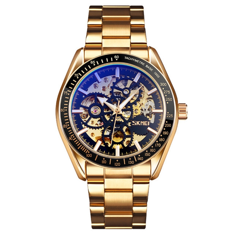 Модные Роскошные светящиеся часы с автоматическим механизмом, механические часы, мужские наручные часы