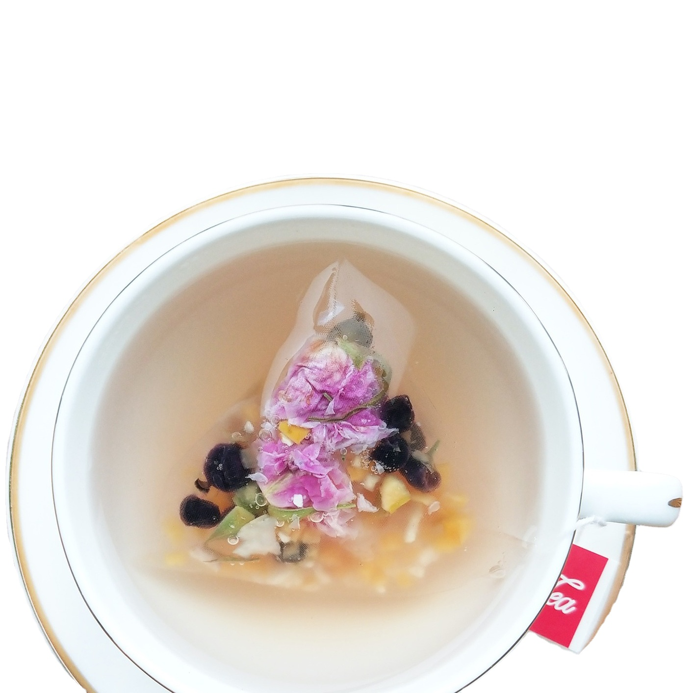 Winter Peach Rose blossom petals Dried Defferent Flowers Detox Blooming Tea Bag for Woman`s Skin Beauty - 4uTea   4uTea.com
