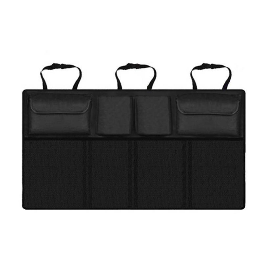 Горячая распродажа универсальный автомобильный багажник на заднее сиденье Органайзер сумка сетка для внедорожника сетка для хранения скл...(Китай)