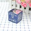 metallic silver inner box, navy blue pearl sleeve