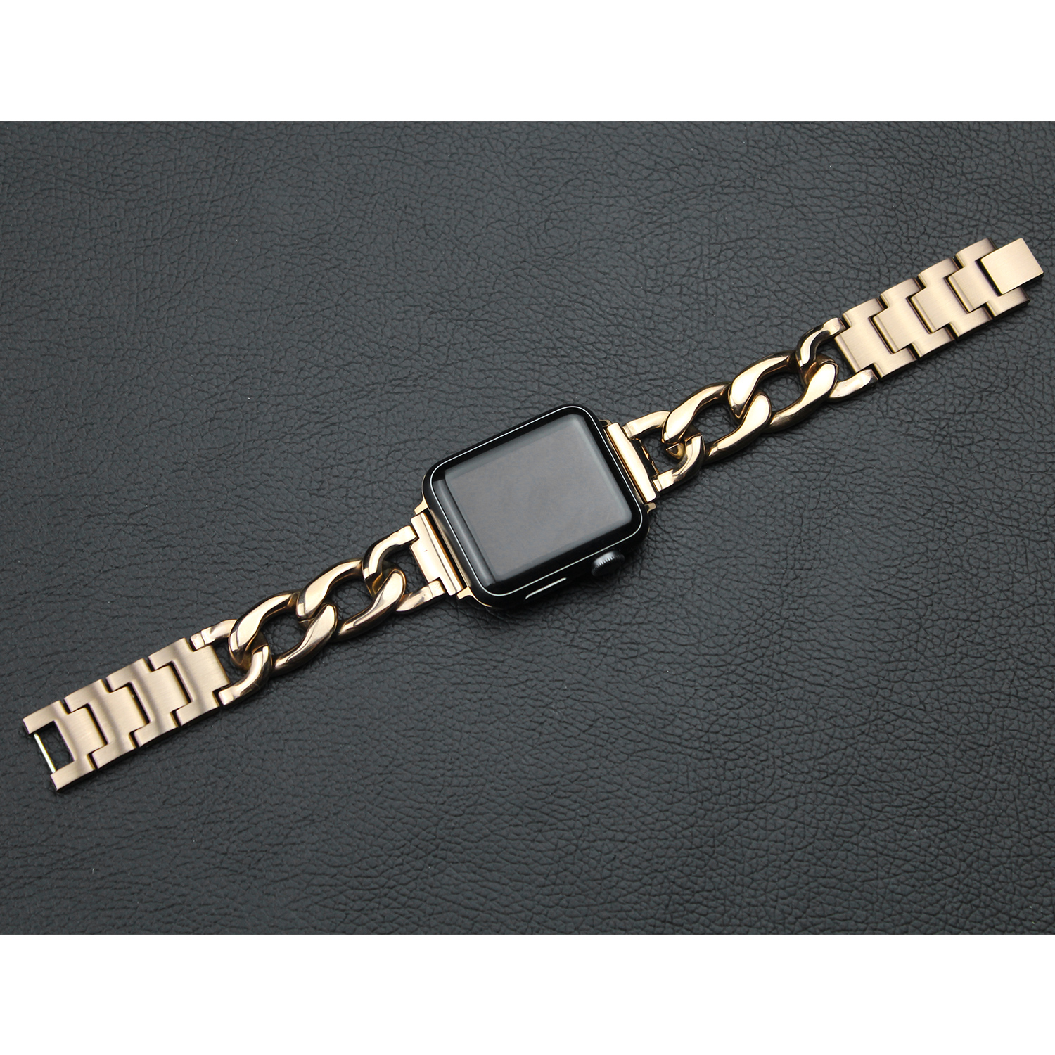 Metal581063 strap For Apple Watch Band 38mm 42mm Stainless Steel Metal Cowboy Chain Band for Apple Watch