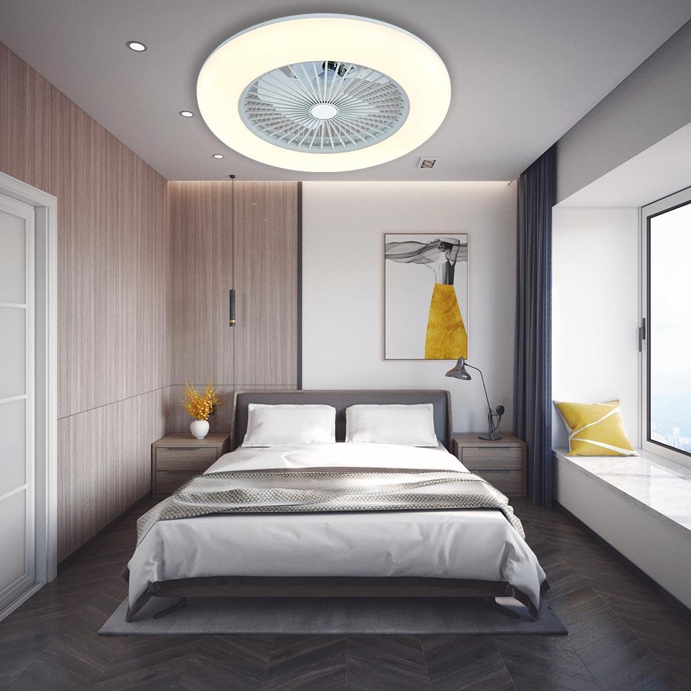 1stshine 3 Скорость пульт дистанционного управления высокого качества бесшумные 3 цвета светодиодное освещение потолочный вентилятор