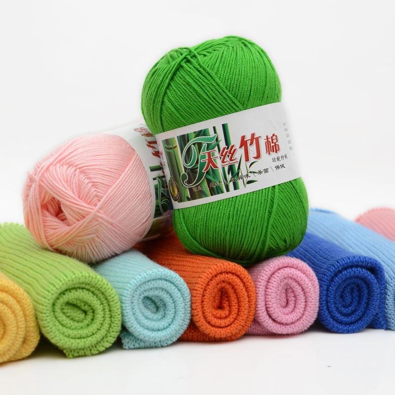 Crochet Baby Hand Knitting 30% Cotton 70% Bamboo blended yarn