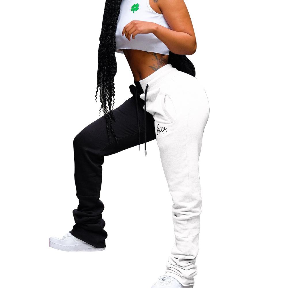 Pantalones De Sudor Modernos Para Mujer Mallas Apiladas De Ocio Leggings Apilados Bordados Novedad De 2020 Buy Apilado Pantalones De Las Mujeres Pantalones De Ejercicio Product On Alibaba Com