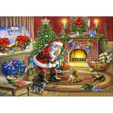 DIY 5D алмазная картина Санта-Клаус, Рождественская Алмазная вышивка, полная круглая мозаика, стразы, художественный подарок, декор для стен(Китай)
