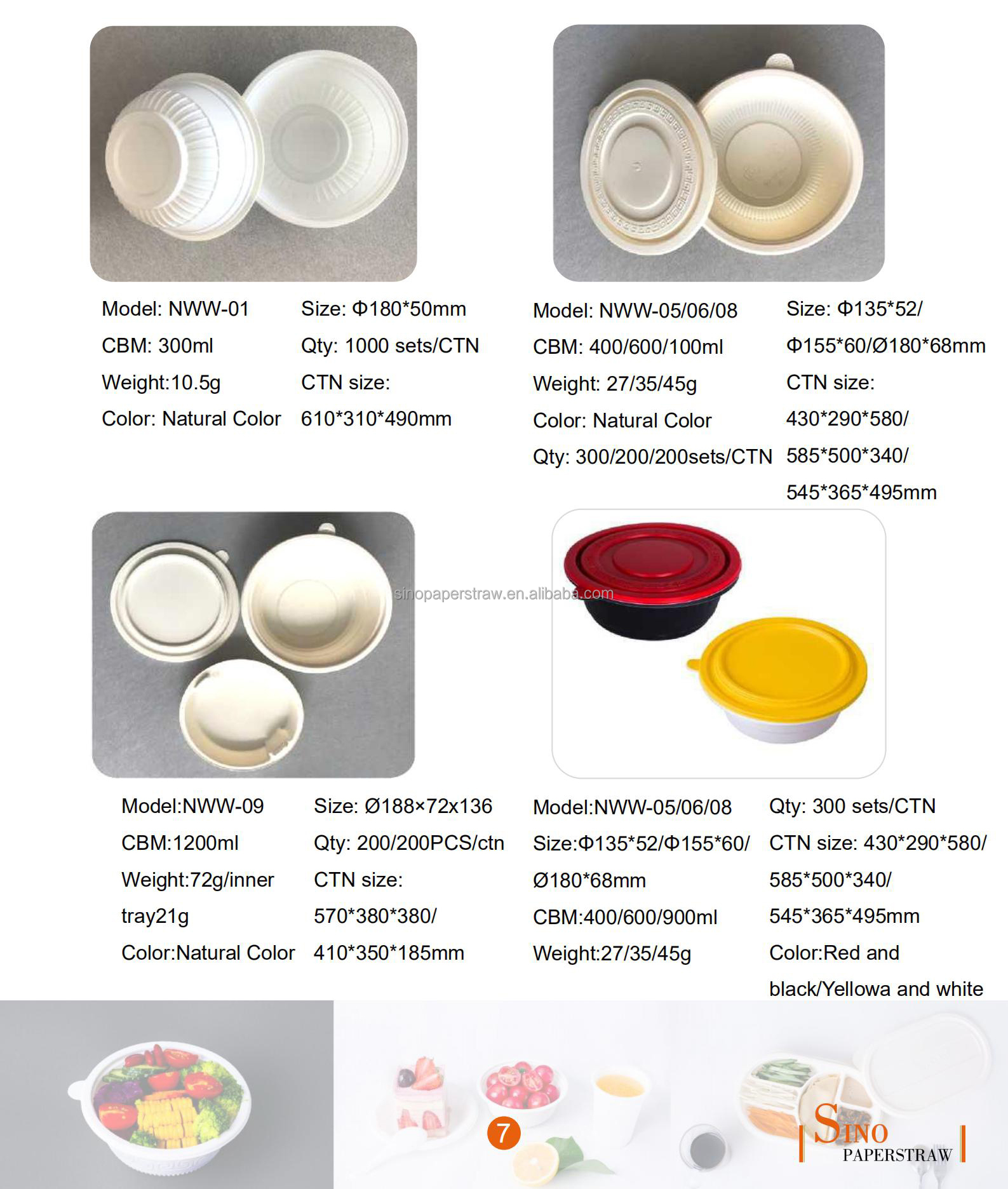 Factory directly biodegradable disposable cornstarch environmental plastic food container