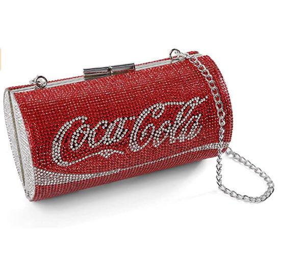 Unique Rhinestones Cola Bottle Clutch Evening Bag Womens Crystal Party Handbag