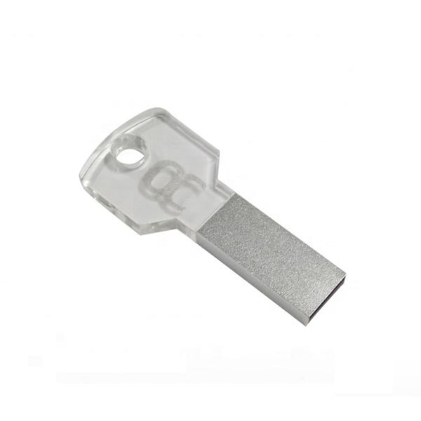 Hot sale OEM LOGO promotion gift Acrylic crystal key usb pendrive with led light - USBSKY   USBSKY.NET