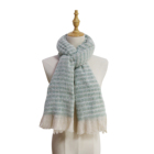 Scarf Striped Scarf Manufactured Directly Fashionable Female Warm Fine Striped Scarf Shawl With Tassels