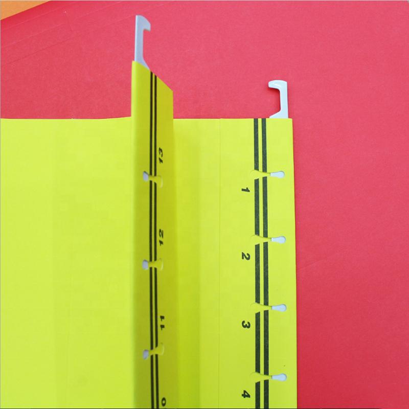 High Quality Custom Plastic  A4 A5 Size Office Stationery document Folder Color Hanging File Folder