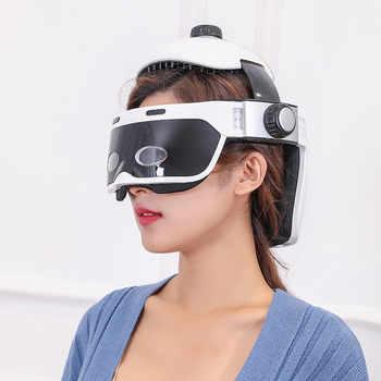 Relieve The Headache Electric Multifunctional Air Helmet Head Massager with Soothing Music