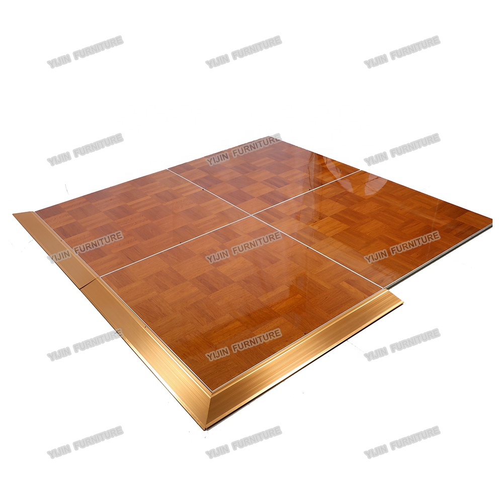 Natural wood high quality veneer tap dancing competition hotel banquet wedding event dance floor