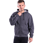 2020 new design cheap casual zip up thick fleece winter hoodies men