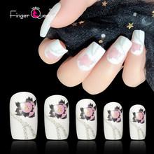 Накладные ногти 24 шт. съемные накладные ногти для наращивания ногтей маникюрный пресс на накладные ногти 76 цветов(Китай)