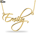 Custom Name Necklace Gold Plated Necklaces Nameplate Personalized Scriptina