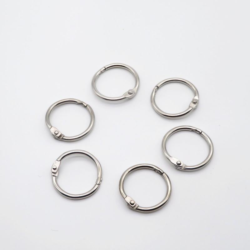 nickel plated metal book binder ring book loose leaf ring