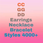 Fashion Earrings High Quality 925 Silver Needle Fashion Brand Jewelry Letter Double CC Earrings