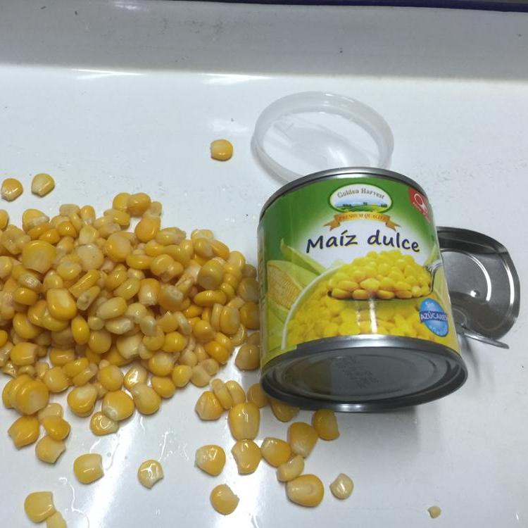 Консервированная сладкая кукуруза в жестяной банке 130g, 150g, 184g, 284g, 312g, 340g, 400g, 425g, 850g, 2125g, 2500g, 2840 г