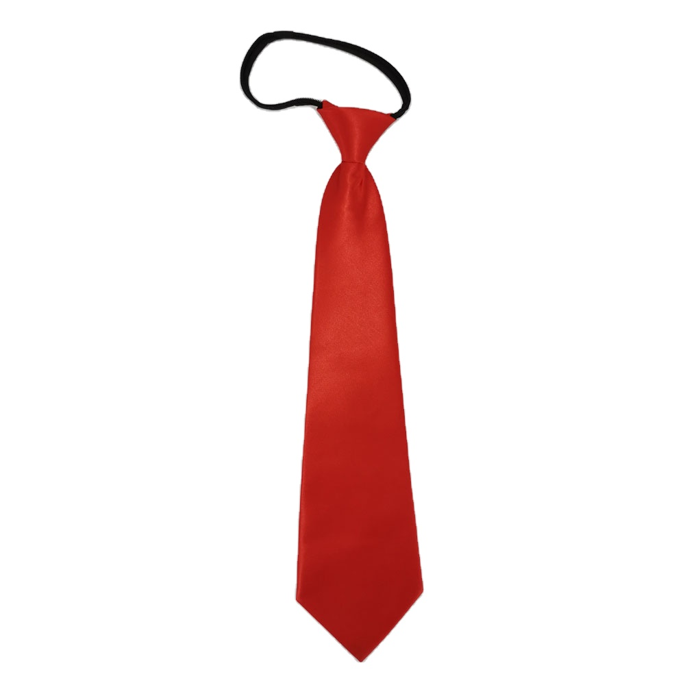 Red Tie With Zipper Adjustable Necktie Easy To Pull Lazy Tie Polyester  Necktie For Adult - Buy Polyester Tie With Zipper Satin Red Color Adult Men  Solid Color,Adjustable Necktie Easy To Pull