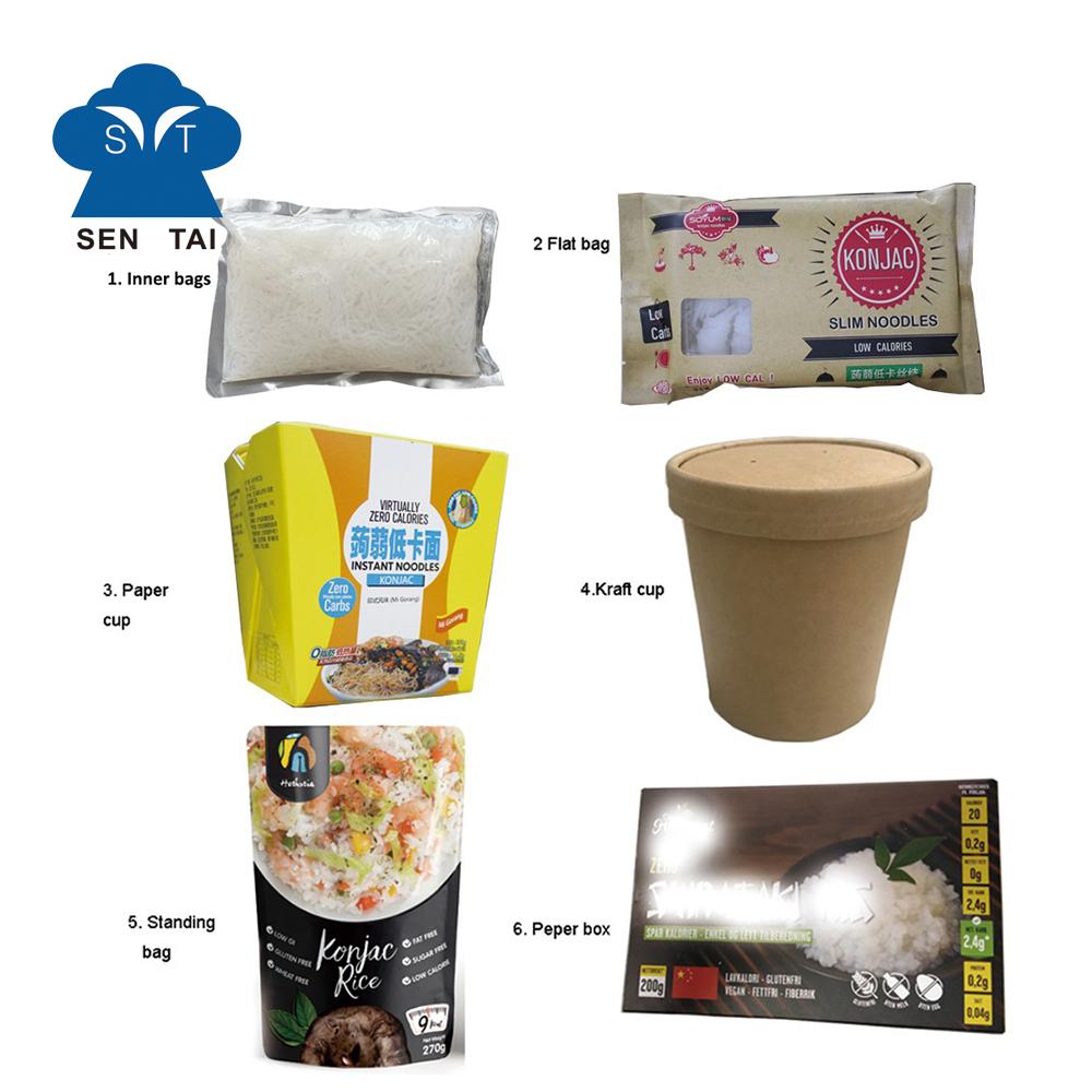 Konjac shirataki noodles pure glucommannan pasta food