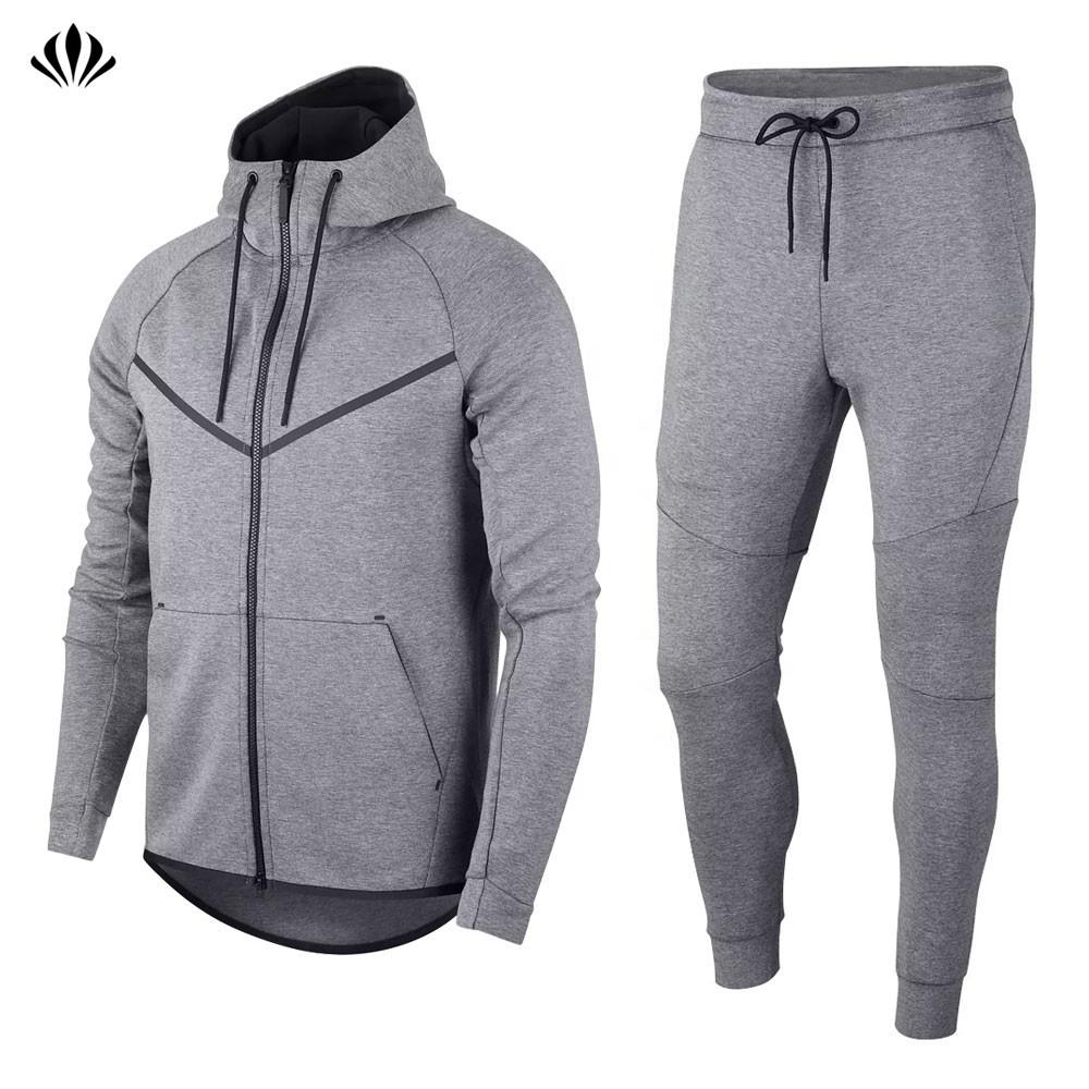 OEM High Quality Mens Jogger Pants Bottoms Zip Hoodies Sportswear Men Sport Tech Fleece Slim Fit Custom Tracksuit