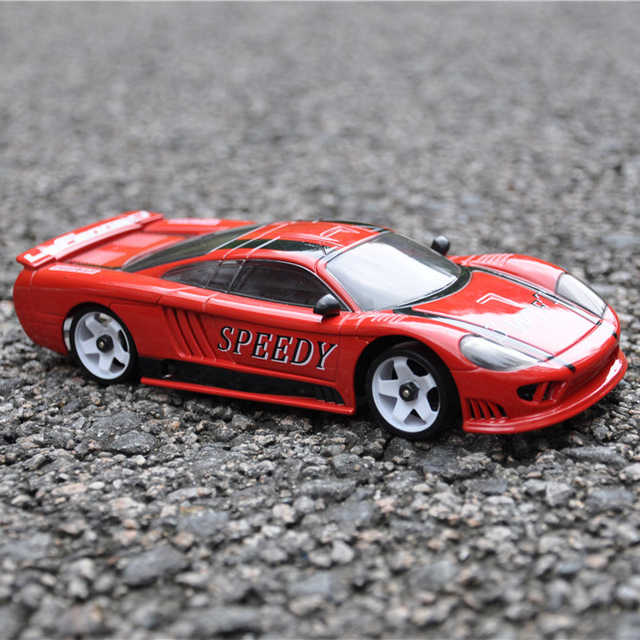 red super cool rc car racing streamline 1/28