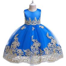 Платье-пачка для девочек на лето 2020, Вечерние Платья с цветочным принтом для девочек на свадьбу и день рождения(China)