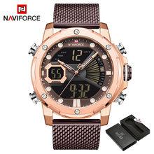 NAVIFORCE мужские часы, роскошные брендовые кварцевые часы, прочные водонепроницаемые винтажные мужские часы, мужские часы(China)