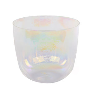 New Design C D E F G A B Note  Clear Perfect Pitch 7 Colors Alchemy Engraving Bowl Clear Quartz Crystal Singing Bowl